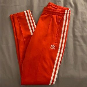 Red Adidas Originals Trackpants
